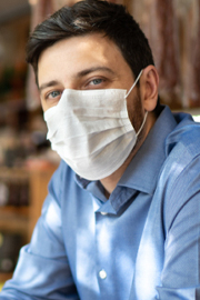 Man Wearing Mask in Workplace